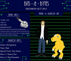 Bits and Bytes app - Cole and OreAgumon by ParadoxalOrder