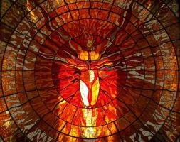 Fire Stained Glass stock by cibervoldo-stock