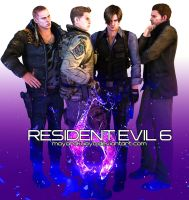 Resident Evil Guys (Render Version) by MayaRokuaya