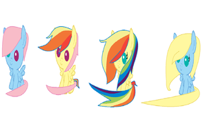 RAINBOW DASH x FLUTTERSHY adoptables   :OPEN: by lps6401