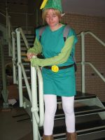 Link Owns Stairs :P by misfitmosher