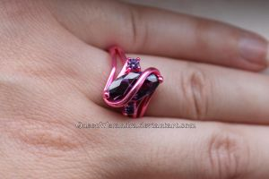 Pink and purple ring by Rongxing Jewelry VII by QueenWerandra
