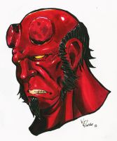 Hellboy Portrait by WillJonesArt