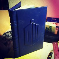 Doctor Who Logo Leather Book (#9) by MerrillsLeather