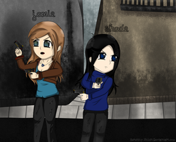 Jamie and Shade (TWDG OC's) by Serenity-Within
