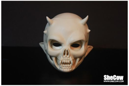Head3 and skull mask by SheCow