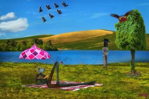 A Day at the Lake by Branka-Johnlockian