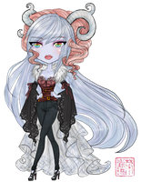 Monster High OC: Anastassia Yeti - Chibi by TifaTofu