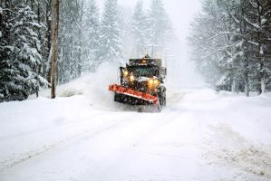 Passing Snow Plow as I was Driving and Shooting by FrodoPrime