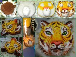Tiger Cake Process by RerinKin