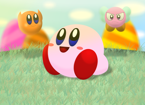 Kirby relaxing by Chino-Spike