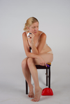 Body Reference - Sitting - Holding Mirror by Danika-Stock
