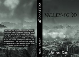 Full Wrap Book Cover Valley of God by James Cash by dreams2media