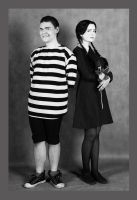Wednesday and Pugsley Addams Cosplay by valeravalerevna