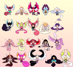 Set Price Fluffy Babes (2/20 OPEN) by Kariosa-Adopts