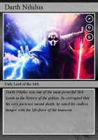 SW-Cards: Darth Nihilus by DarthVaderXSnips