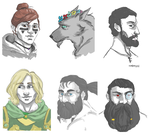 guild mate portraits by safmira