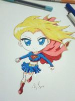 Supergirl Anime Chibi by krnozine