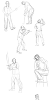 Digital Figure Sketches by Zito-is-Neato
