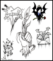 dope arse tattoo flash by poofmongoose