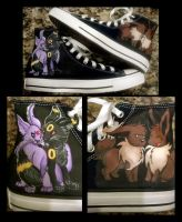 Espeon/Umbreon/Eevee/Ditto Shoes by Brokenfeather-san