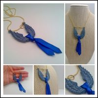 Castiel's Tie, Wings and Halo - A Necklace by NasuOni