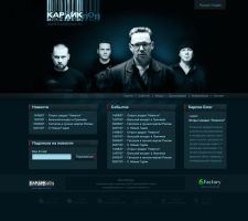KarlikPop website mockup by DarckBMW