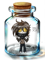 Ticci Toby in a Bottle by WarriorWildfur