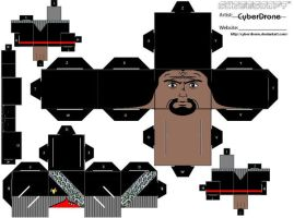 Cubee - Worf 'Movie and DS9' by CyberDrone