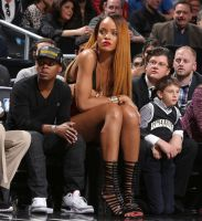 Tall Rihanna courtside seats by lowerrider