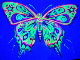 Black Light Butterfly by nicostars