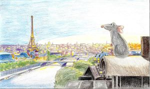 remy over paris finished by pixarjunkie