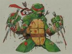 TMNT Raph after battle by Red-J