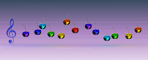 Music Rainbow Cherries by THE-LEMON-WATCH