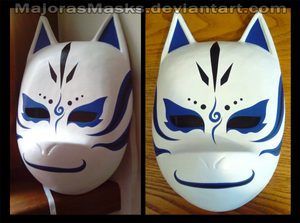 Custom Kakashi ANBU mask (blue ver.) | COMMISSION by MajorasMasks