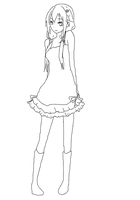 Shinka Orihara Character Design Remake -outlined- by DreChan