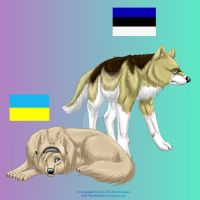 APH Wolfinized:Estonia+Ukraine by WoelfinNishi