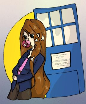 Vicky and the Tardis by Vickster