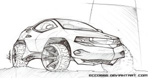offroad vehicle - desert suv by ecco666