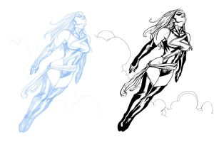 Ms Marvel pencils and inks by JasonConrad