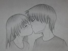 This one kiss... by Kaspiian