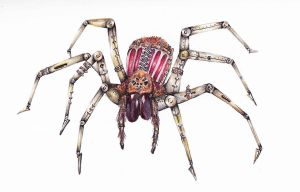 Steampunk spider by SpookyMeg