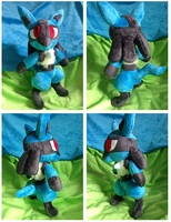 Lucario Plush by Glacdeas