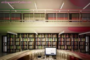 LIBRARY INTERIOR 6 by ARCHJUN