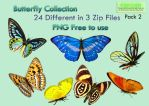 Butterfly Collection Stock Pack 2 by Roys-Art