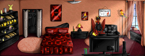 Paypal Commission - Flashover's Bed Room by NekoMellow