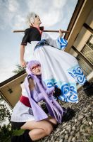 Ayame Sarutobi and Gintoki from Gintama by Zakane
