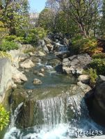 Waterfall in Asakusa Shrine by jescie93