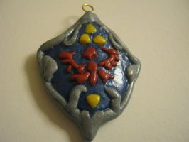 Hylian Shield keychain by bunnysmiles