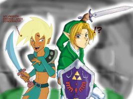 Crossover_Xandir and Link by Letucse